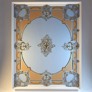 3d model ceiling moulding