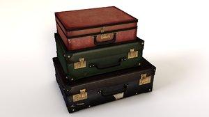 valises suitcases 3d c4d