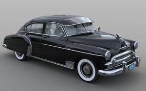 1950 chevrolet fleetline deluxe 3d model