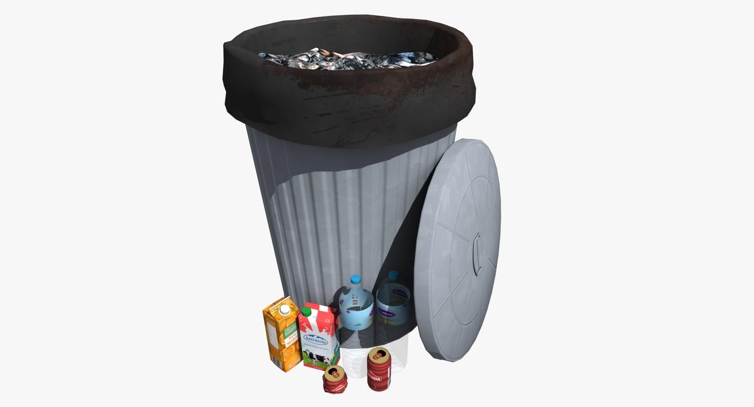 garbage metallic 3d max