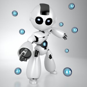 3ds robot character