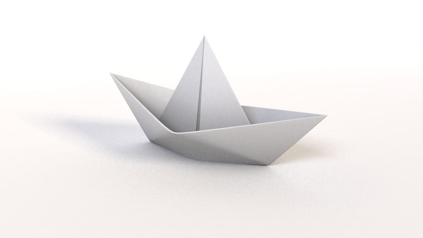 paper boat c4d