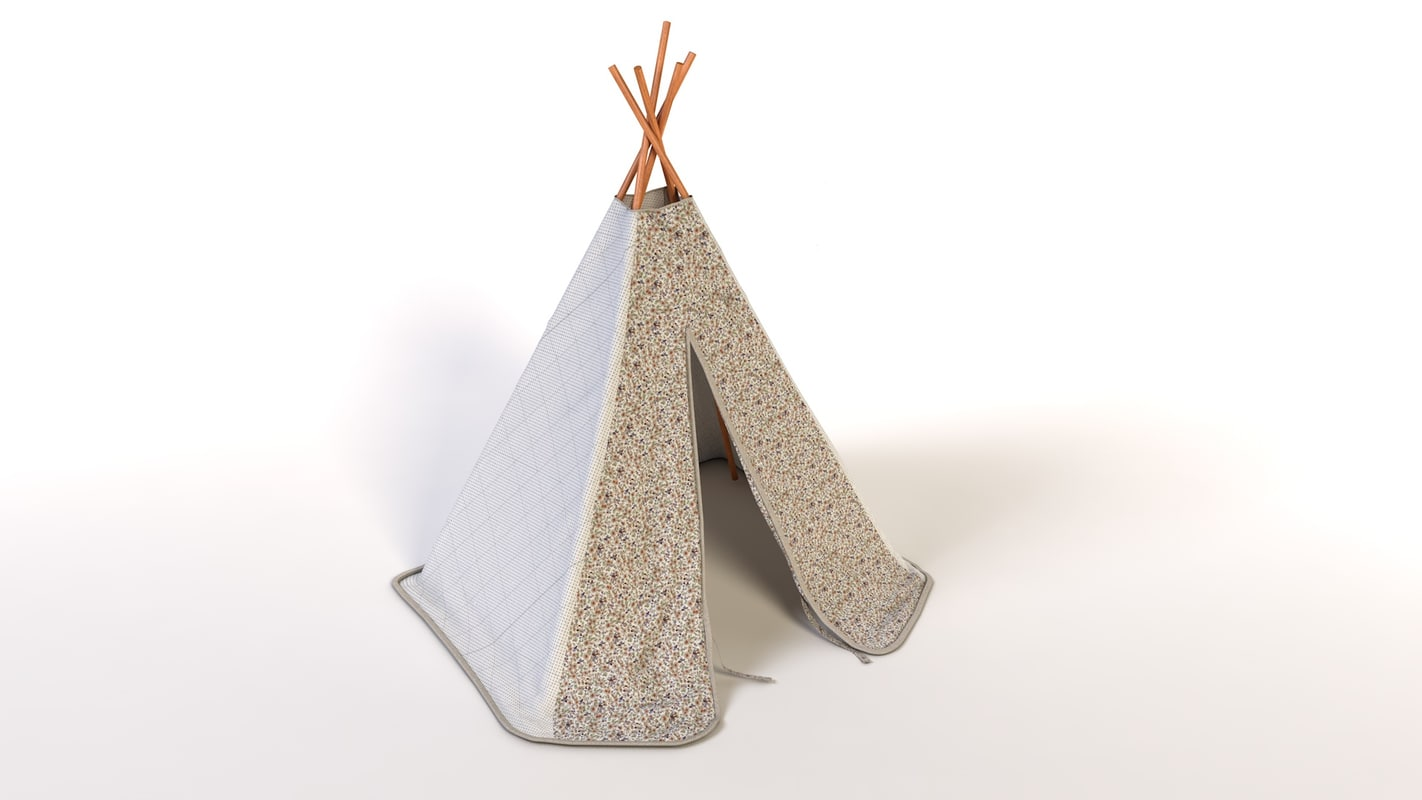 tipi child funny 3d model