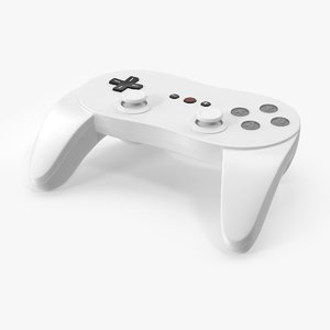 white video controller 3d max
