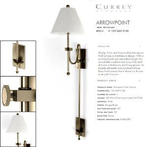 currey company wall light 3d model