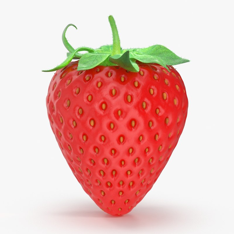 strawberry berry 3d max