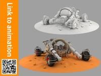 rover mars 3d model
