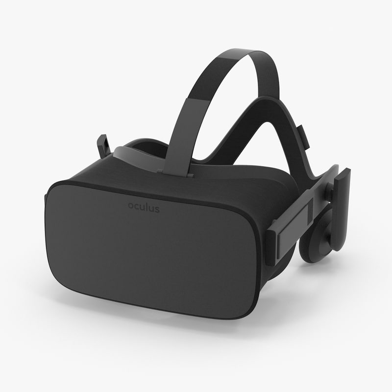 3d oculus rift headset model