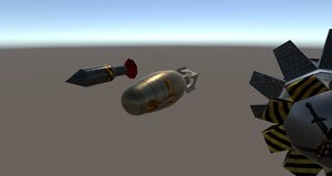 plane bombs 3d model