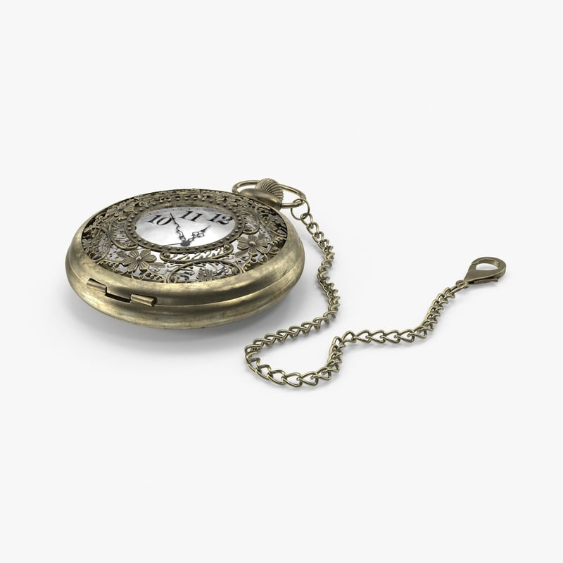 3d filigree pocket watch