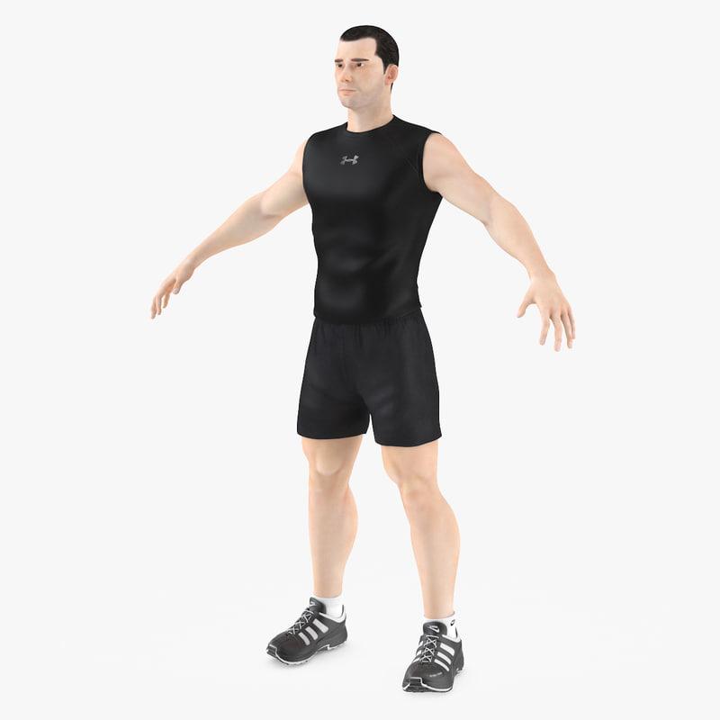 3d model male human man