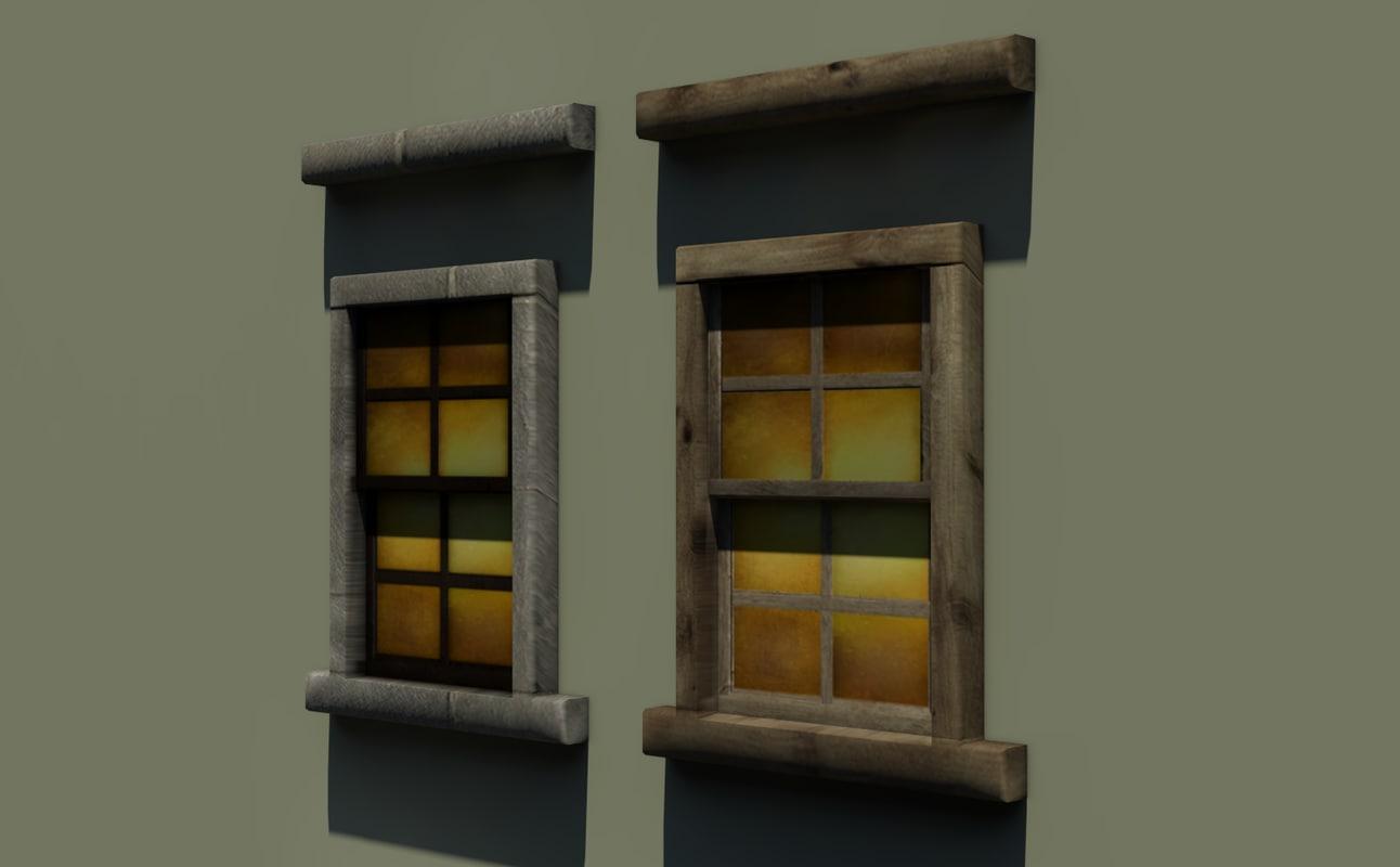 windows medieval steampunk 3d model