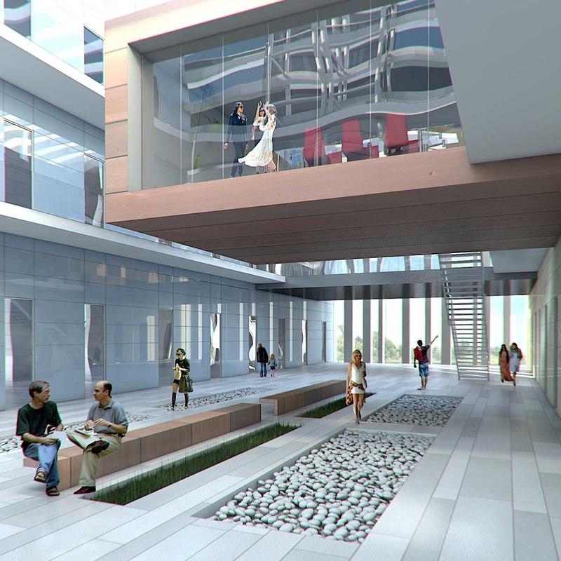 hall lobby interior 3d max