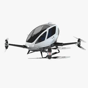 184 single passenger drone 3d max