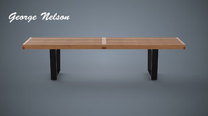free bench george nelson 3d model