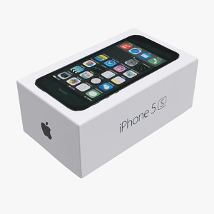 3d iphone box model