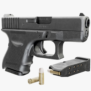 3d model gun glock 26 gen4