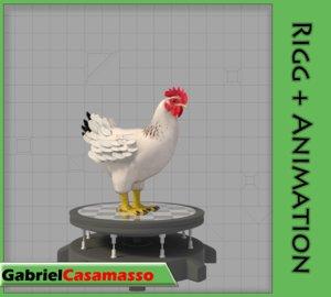 3d chicken gallus domesticus