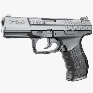 3d model gun walther p99