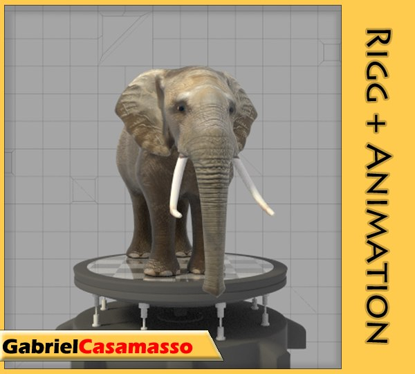 3d elephant animation model