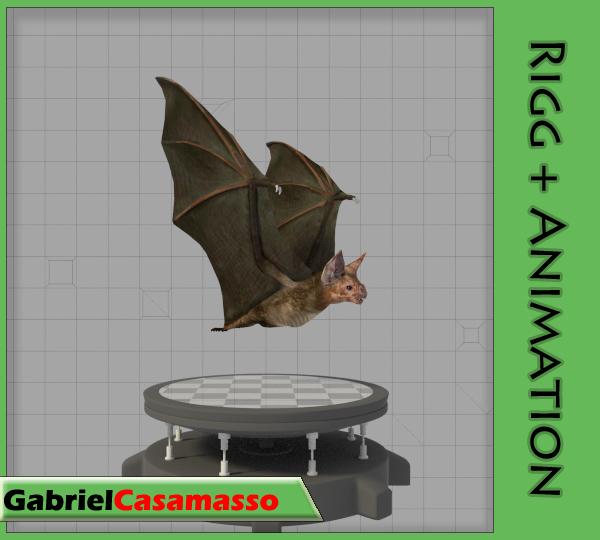 3d x desmodus rotundus animation