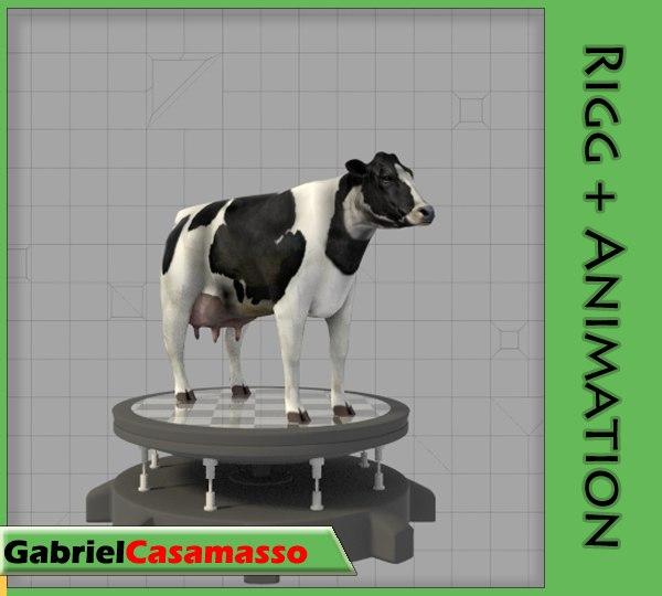 3d cow bos taurus