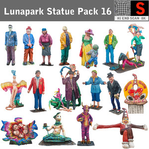 3d model of sculpture lunapark pack 16