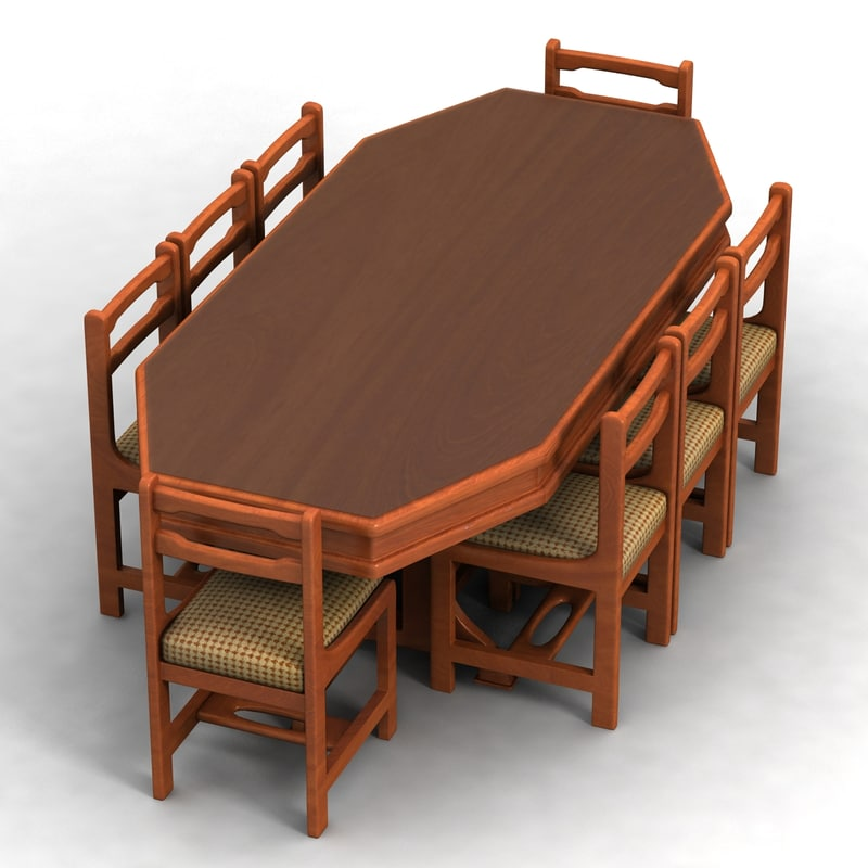 dinning table 3d max