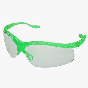 3d model medical safety glasses