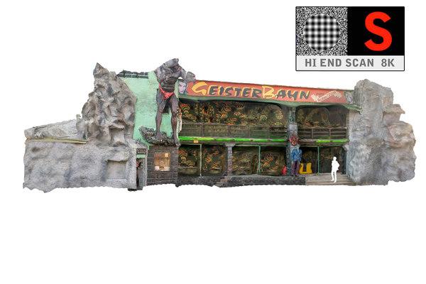lunapark facade 8k 3d obj