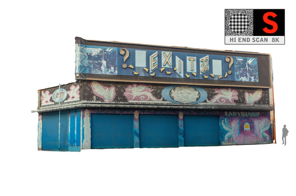 3d model of lunapark facade 8k