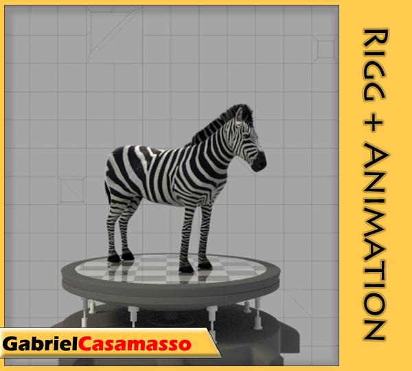 3d model zebra animation