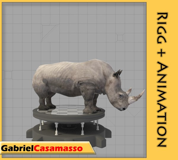 rhinoceros animation x
