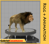 3d model lion animation
