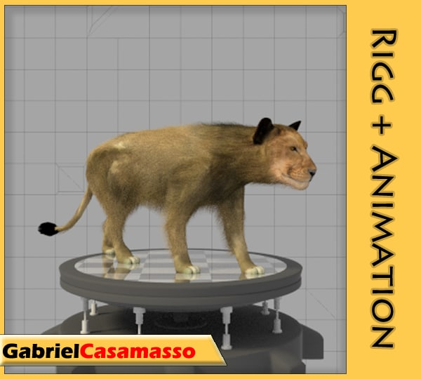 female lion 3d model