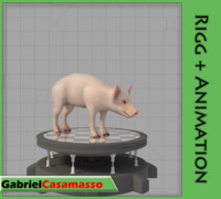 3d pig animation