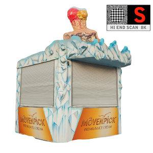 3d lunapark ice cream parlor model