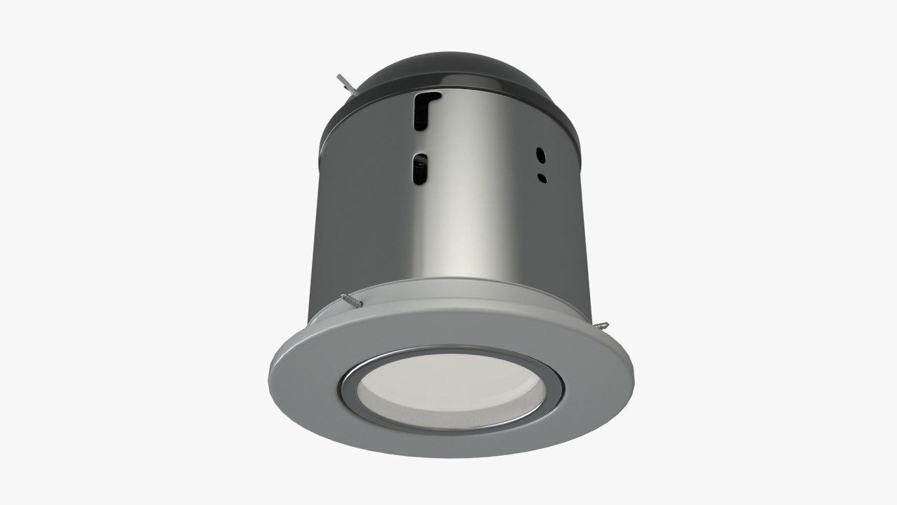 recessed light 3d max