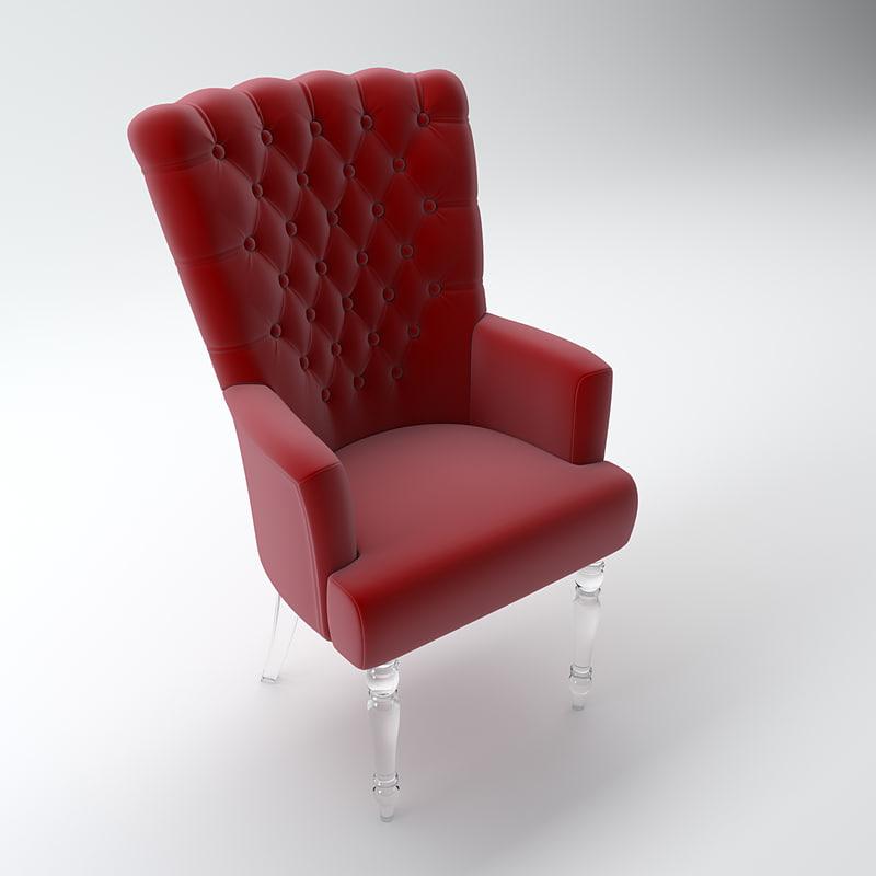 3d elegant armchairs