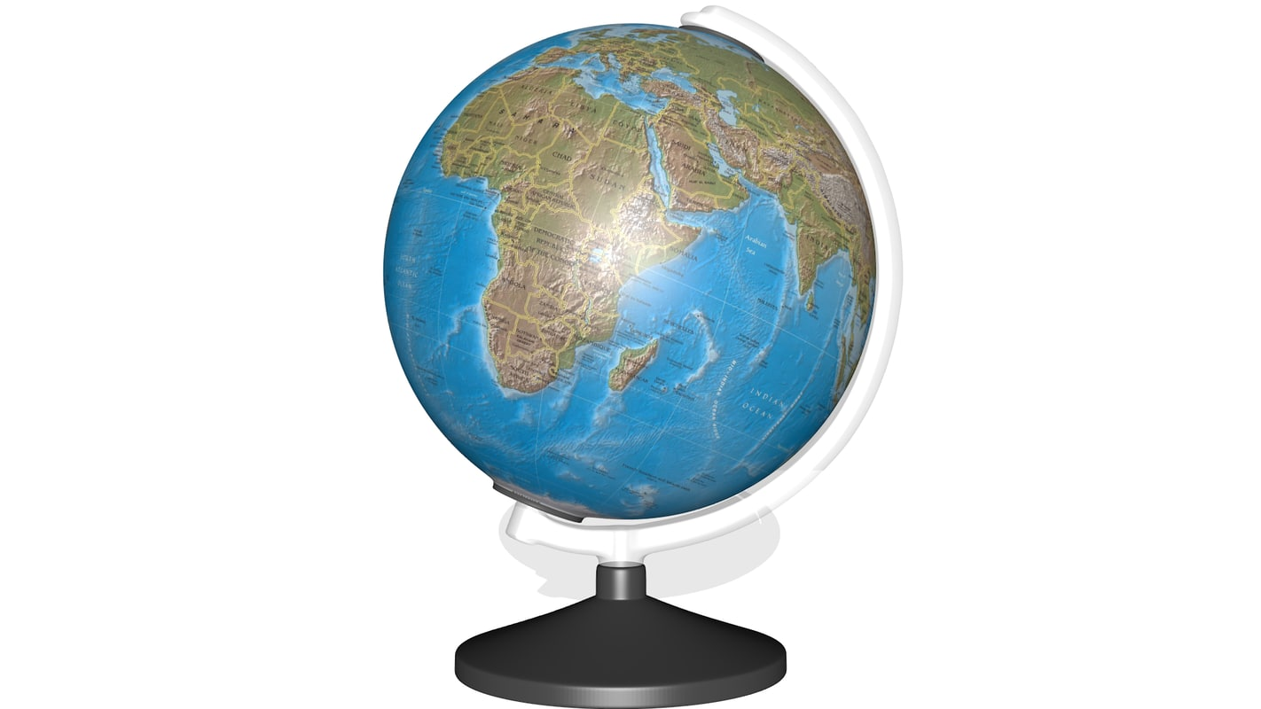 3d globe decoration model