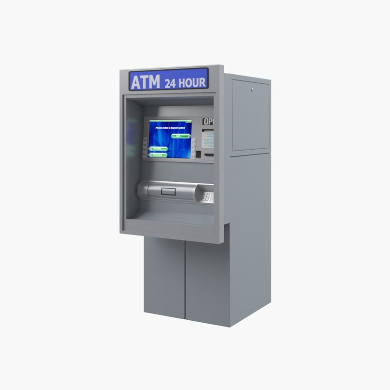 atm automated teller machine 3d max