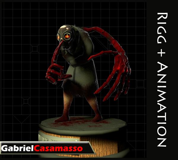 3d fbx terror character