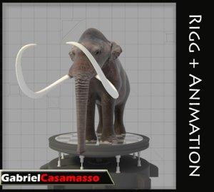 3d mammoth mammuthus columbi model