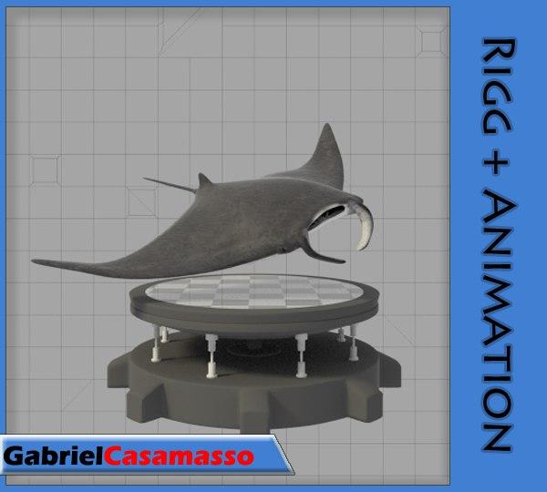 manta animation 3d blend