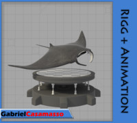 manta animation 3d blend