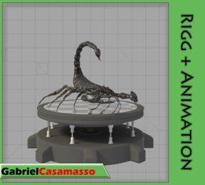 x scorpion animation