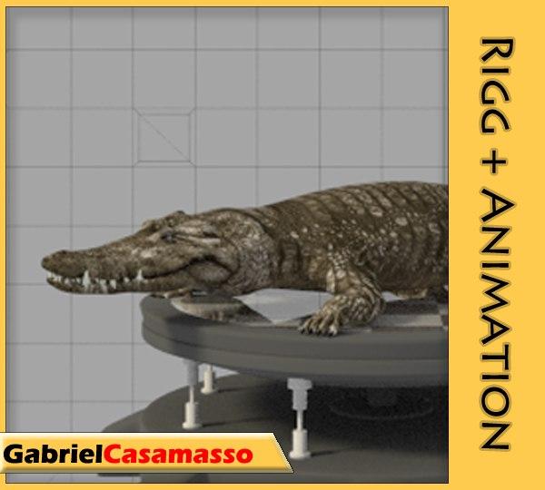 3d saltwater crocodile