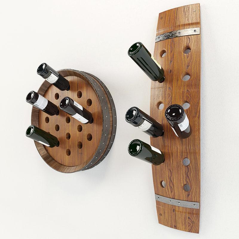 3d wine rack barrel model