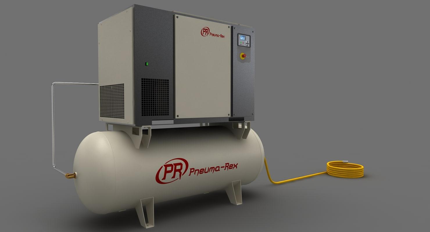 industrial air compressor 3d model