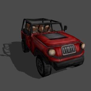 3d model ready jeep